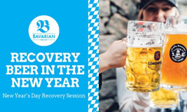 New Year's Day Recovery Session at Bavarian Bier Cafe