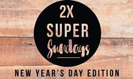 2X Super Sunday's New Year's Day Edition at The Guildford